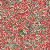 Morris Indian Red / Black Wallpaper