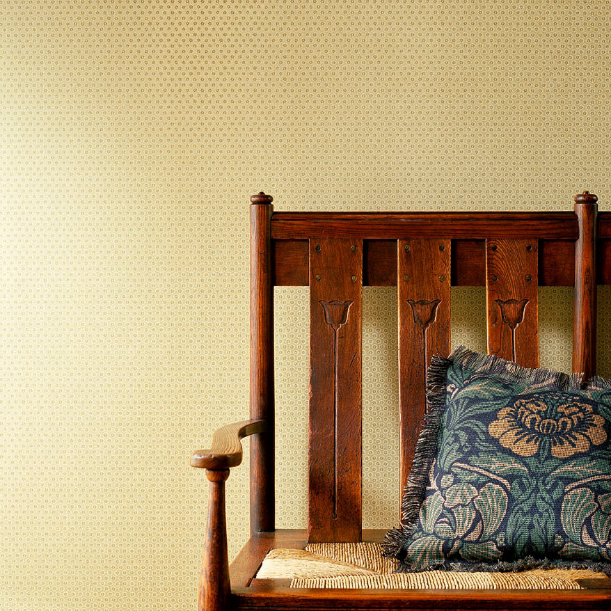Honeycombe Wallpaper - Silver / Gold - by Morris