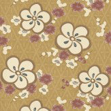 Little Greene Blossom Lilac / Putty Wallpaper