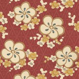 Little Greene Blossom Red / Yellow Wallpaper