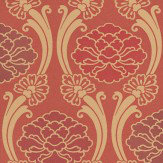 Little Greene Peony Red Wallpaper