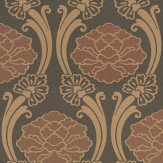 Little Greene Peony Brown Wallpaper