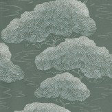 Little Greene Silver Pine Silver Grey Wallpaper
