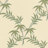 Little Greene Trellis Bamboo Green / Cream Wallpaper