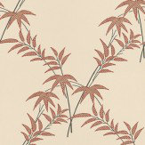 Little Greene Trellis Bamboo Red / Cream Wallpaper