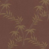 Little Greene Trellis Bamboo Damson / Gold Wallpaper