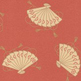 Little Greene Shojo Red Wallpaper