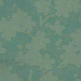 Little Greene Camellia Gold / Teal Wallpaper