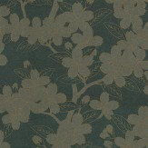Little Greene Camellia Gold / Charcoal Wallpaper