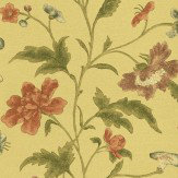 Little Greene China Rose Olive / Pink / Purple Wallpaper