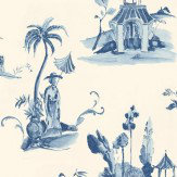 Osborne & Little Palais Chinois Blue Wallpaper - Product code: W6011/03