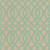 Osborne & Little Du Barry Aqua / Silver Gold Wallpaper - Product code: W6013/02