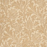 Morris Thistle Soft Dove / Gold Wallpaper