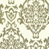 Kandola Venice Light Gold / Off White Wallpaper - Product code: W1430/04/246