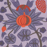 Osborne & Little Maharani Purple / Orange Wallpaper