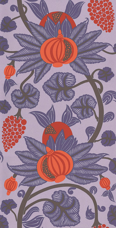 Osborne & Little Maharani Purple / Orange Wallpaper main image