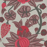 Osborne & Little Maharani Pink / Burgundy Wallpaper
