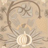 Osborne & Little Maharani Brown / Cream Wallpaper