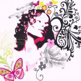 Arthouse Surfer Girl in Pink Art - Product code: 000308