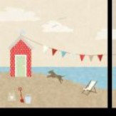 Arthouse Beach Huts - Set of 3 Art