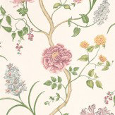Sanderson Summer Tree Pink / Blue / Yellow Wallpaper - Product code: DAPGST103