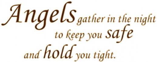 Image of Wall Word Designs Stickers Angels gather in the sky.. - Brown, 1027-2