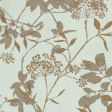Harlequin Fusion Metallic Gold / Brown / Aqua Wallpaper