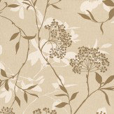 Harlequin Fusion Metallic Gold / Cream / Beige Wallpaper