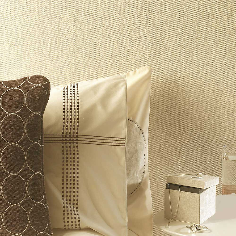Albany Weave Ochre Wallpaper - Product code: 33038
