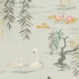 Nina Campbell Swan Lake Silver Grey Wallpaper - Product code: NCW4020-01