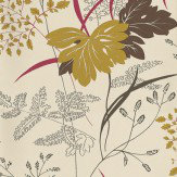 Nina Campbell Arboretum Bronze / Lime / Pink Wallpaper - Product code: NCW4022-04