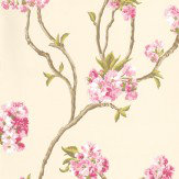 Nina Campbell Orchard Blossom Pink / Cream Wallpaper - Product code: NCW4027-01
