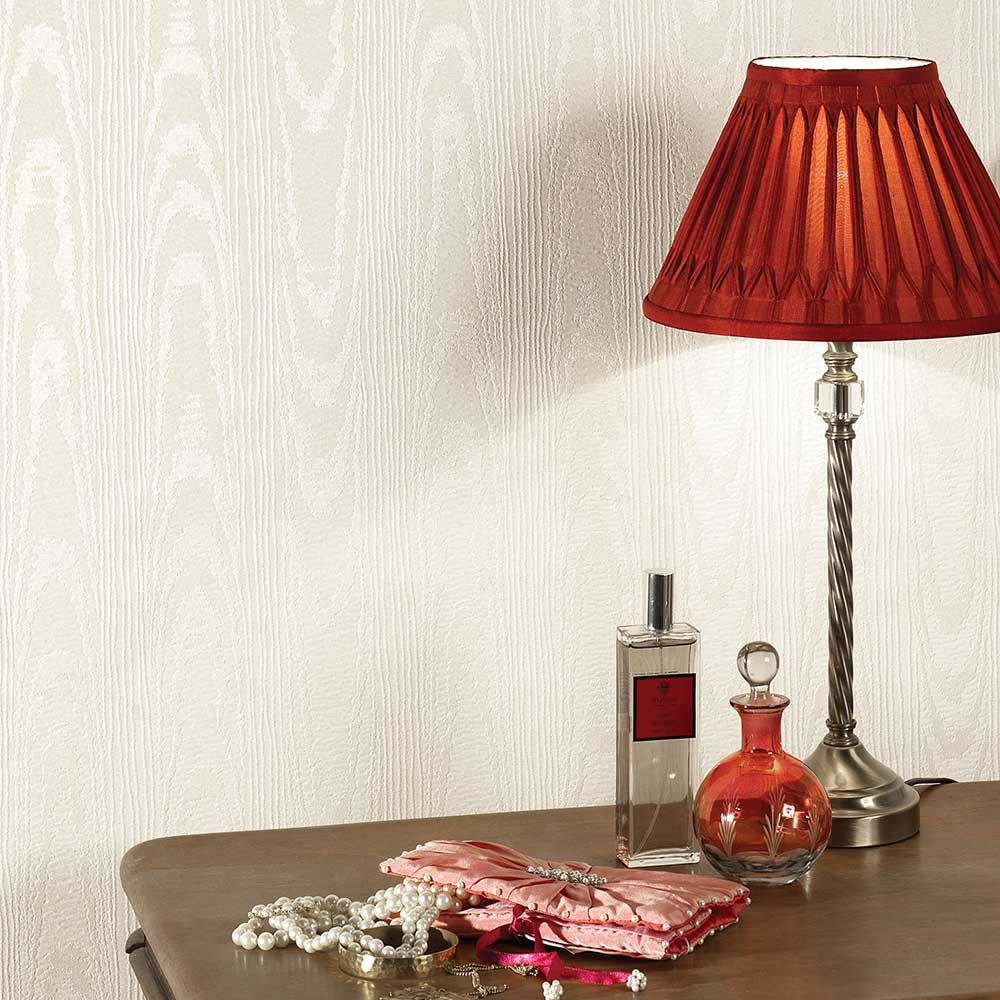 Bella Texture Wallpaper - Cream - by Albany