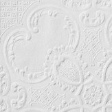 Anaglypta Alfred Paintable White Wallpaper