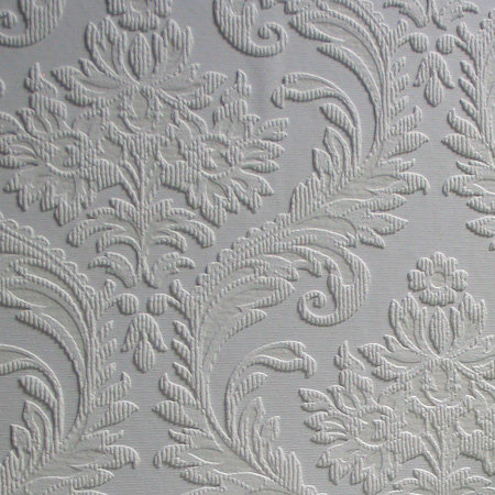 High Trad Wallpaper - White - by Anaglypta