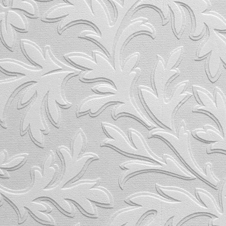 High Leaf Wallpaper - White - by Anaglypta