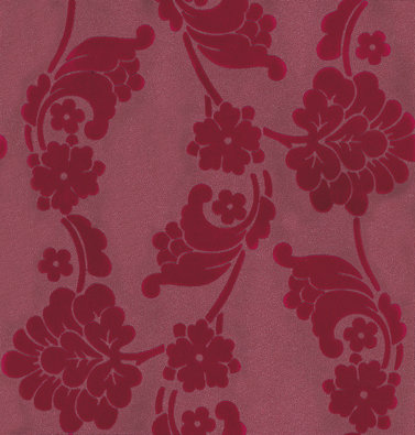 Anna French Velvet Jacquard Flock Deep Pink Wallpaper main image