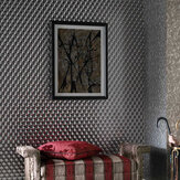 Osborne & Little Rombico Silver Wallpaper