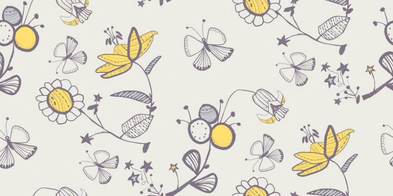 wallpaper yellow and white. Elle Decoration Wallpaper