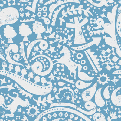 wallpaper blue and white. Shown here in white on lue.