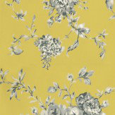 Harlequin Elodie Grey / White / Lime Wallpaper