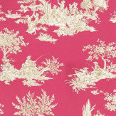 Harlequin Etienne Beige / Hot Pink Wallpaper