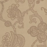 Mulberry Home Marquise Damask Pewter / Brown Wallpaper