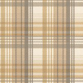 Mulberry Home Modern Tartan Charcoal / Gold Wallpaper