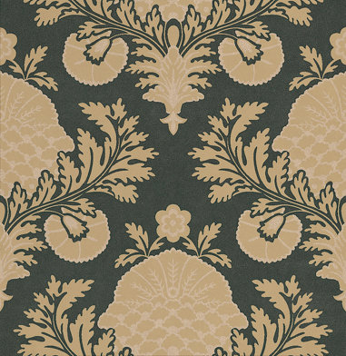 Mulberry Home Palace Damask Beige / Gold Wallpaper main image