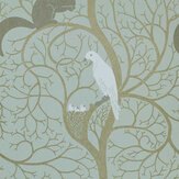 Sanderson Squirrel & Dove Wallpaper