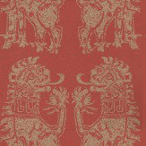 Sanderson Sicilian Lions Red / Gold Wallpaper - Product code: DVIWSI103