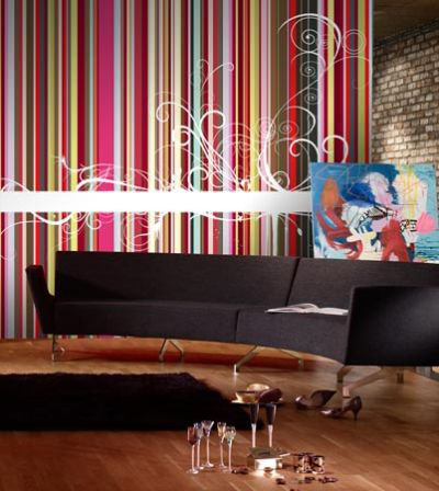Mr Perswall Rainbow Stripes  Mural - Product code: P030903-6