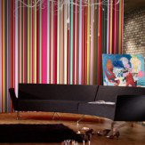 Mr Perswall Rainbow Stripes  Mural
