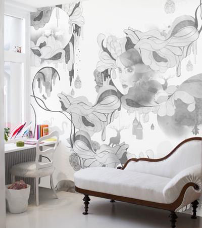 Mr Perswall Shady Lady  Mural - Product code: P030302-6